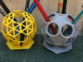球形镂空笔筒 3D模型