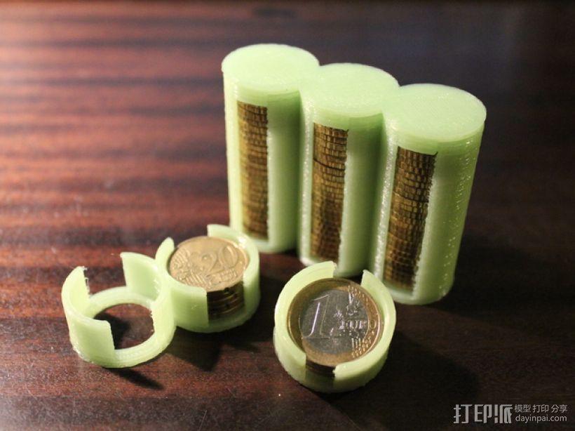 参数化硬币存钱罐 3D模型  图1