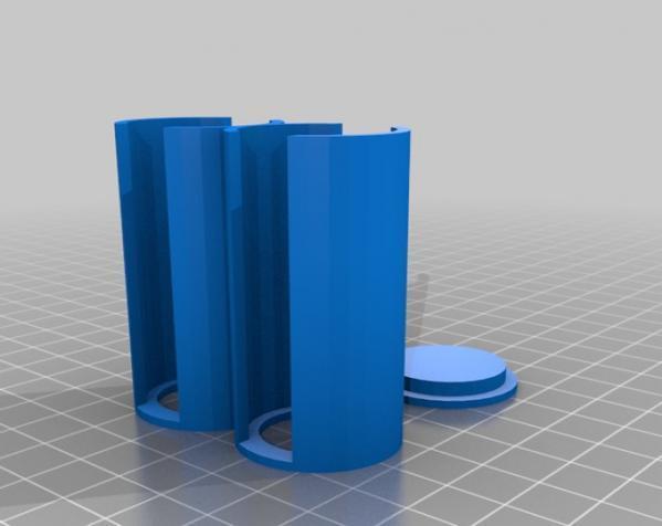 参数化硬币存钱罐 3D模型  图4