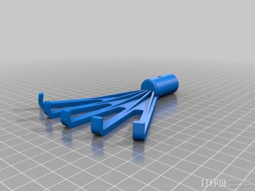 迷你手耙 3D模型  图2