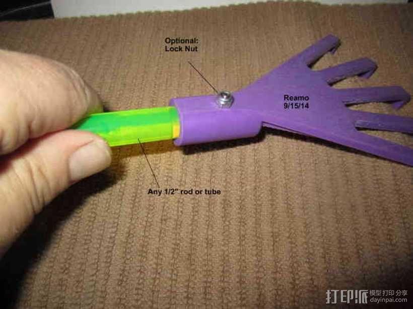迷你手耙 3D模型  图3