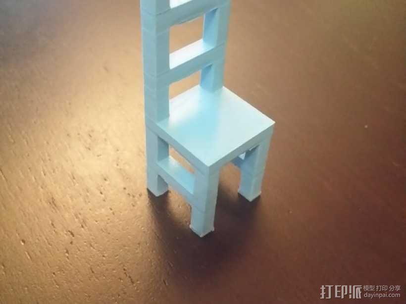 迷你小椅子 3D模型  图1