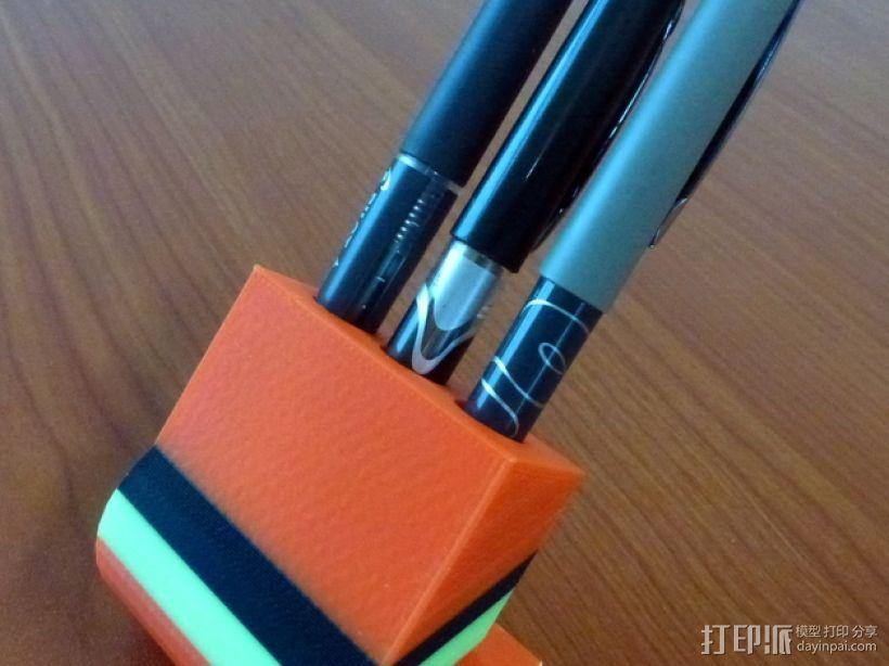 三色铅笔架 3D模型  图1