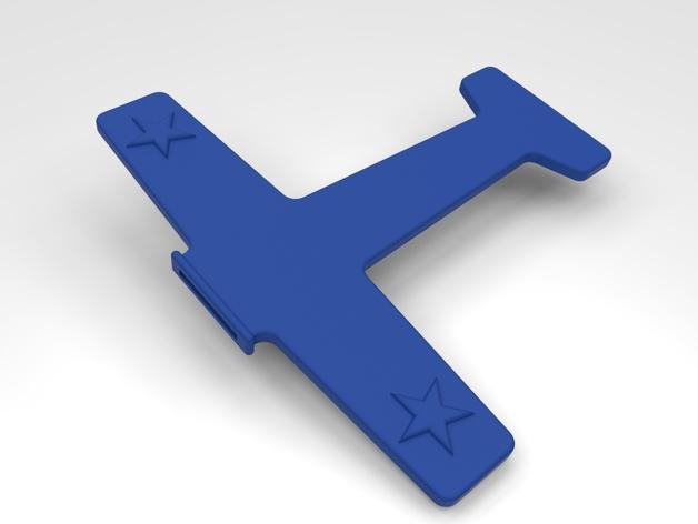 飞机形勺子/叉子 3D模型  图3