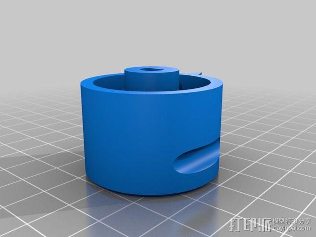 参数化圆形旋钮 3D模型  图4