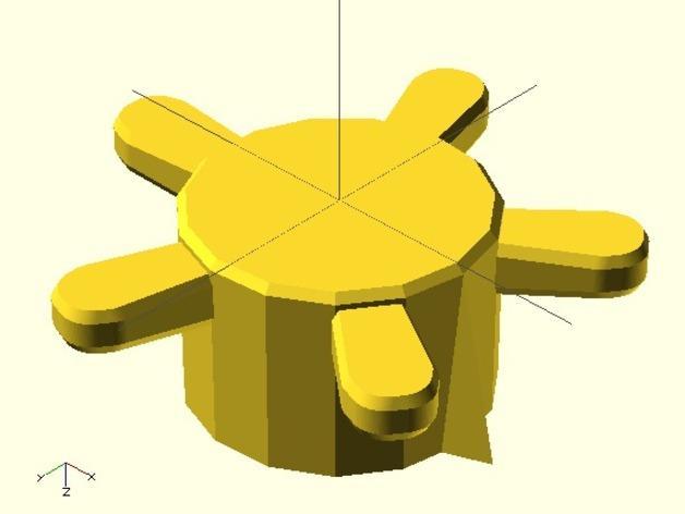 参数化圆形旋钮 3D模型  图13