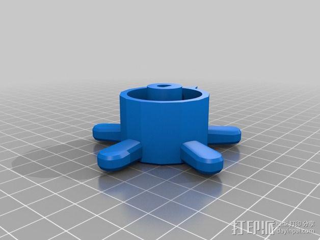 参数化圆形旋钮 3D模型  图14