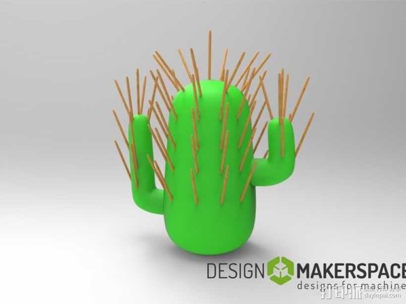 仙人掌牙签架 3D模型  图1