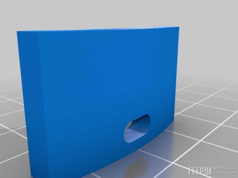 T8 LED灯底座 3D模型  图3