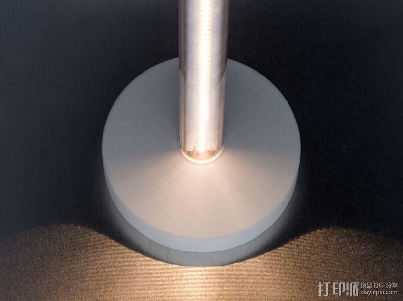 T8 LED灯底座 3D模型  图2