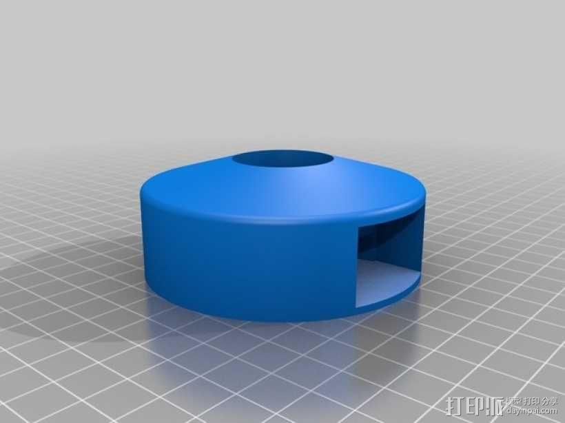 T8 LED灯底座 3D模型  图4