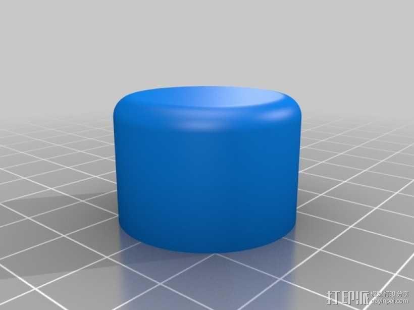 T8 LED灯底座 3D模型  图5
