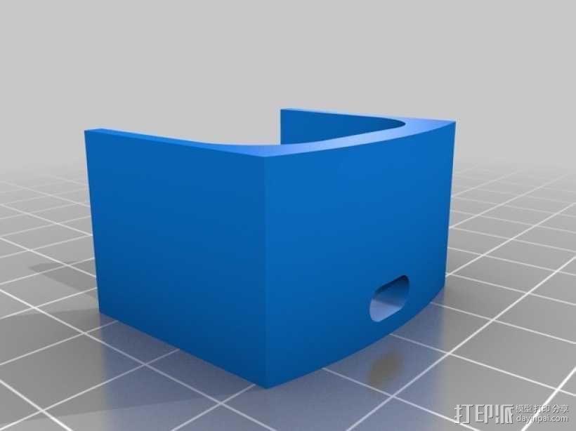 T8 LED灯底座 3D模型  图6