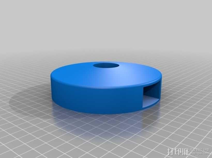 T8 LED灯底座 3D模型  图7