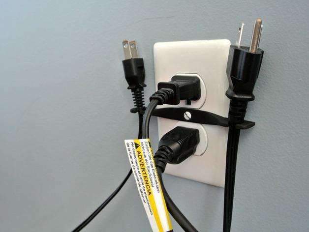 壁式插线板线夹 3D模型  图3