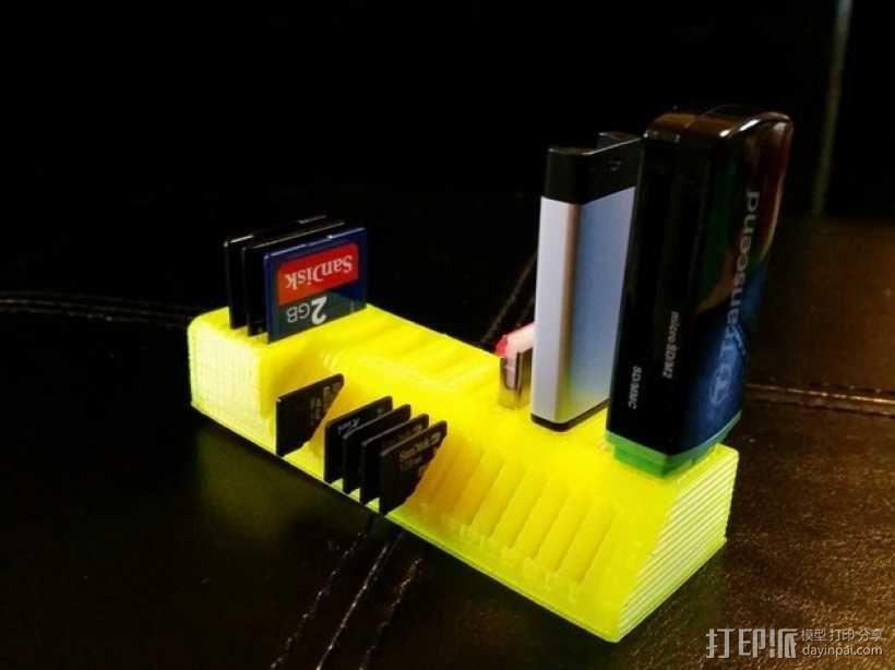 定制化USB卡/SD卡架 3D模型  图1