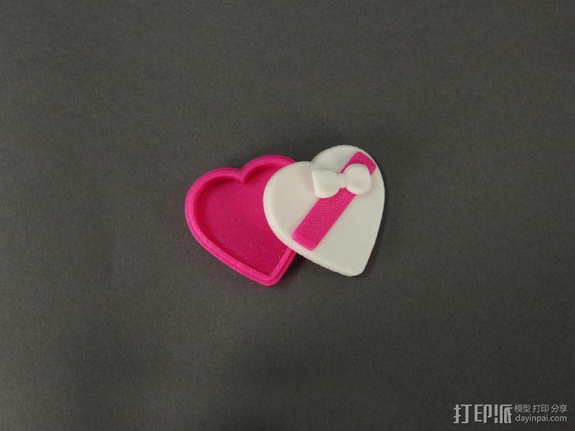 心形糖果礼物盒 3D模型  图1
