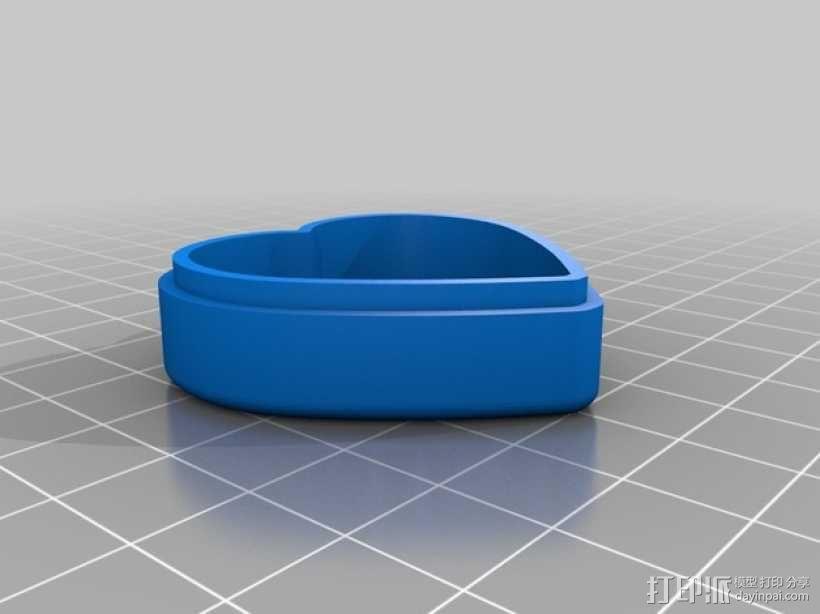 心形糖果礼物盒 3D模型  图5