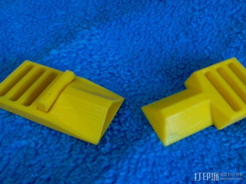 简易皮带扣 3D模型  图1