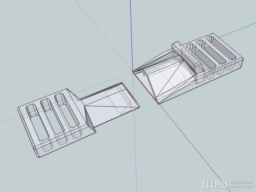 简易皮带扣 3D模型  图3