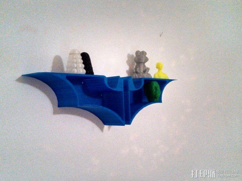 蝙蝠形壁挂式搁板 3D模型  图1