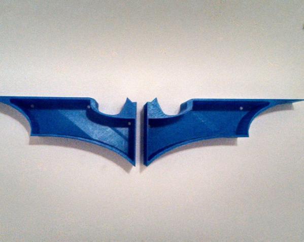 蝙蝠形壁挂式搁板 3D模型  图2