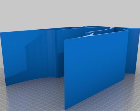蝙蝠形壁挂式搁板 3D模型  图5