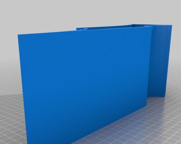 蝙蝠形壁挂式搁板 3D模型  图4