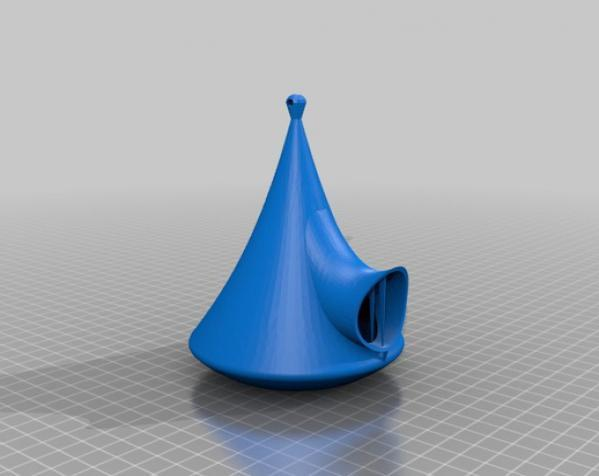 水滴形迷你鸟笼 3D模型  图9
