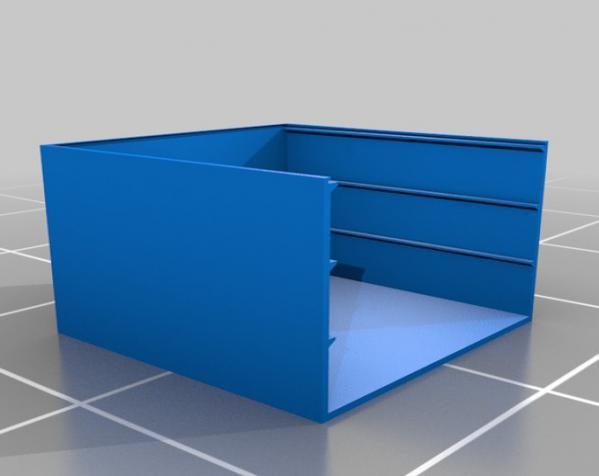 五金配件迷你抽屉 3D模型  图1