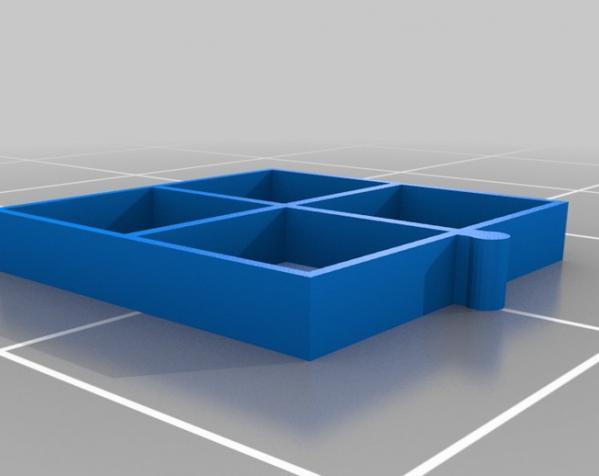 五金配件迷你抽屉 3D模型  图4
