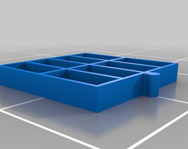 五金配件迷你抽屉 3D模型  图5