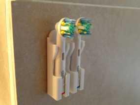 壁挂式牙刷固定架 3D模型