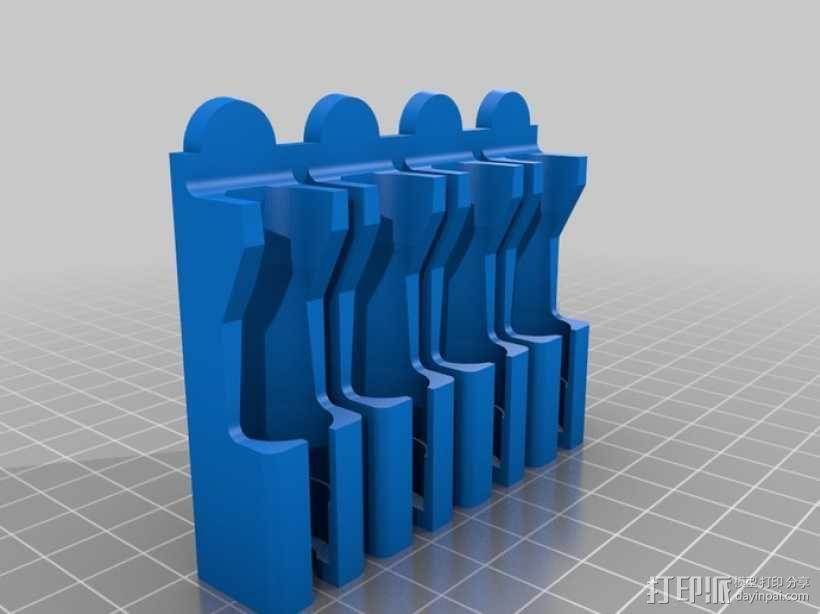 壁挂式牙刷固定架 3D模型  图4