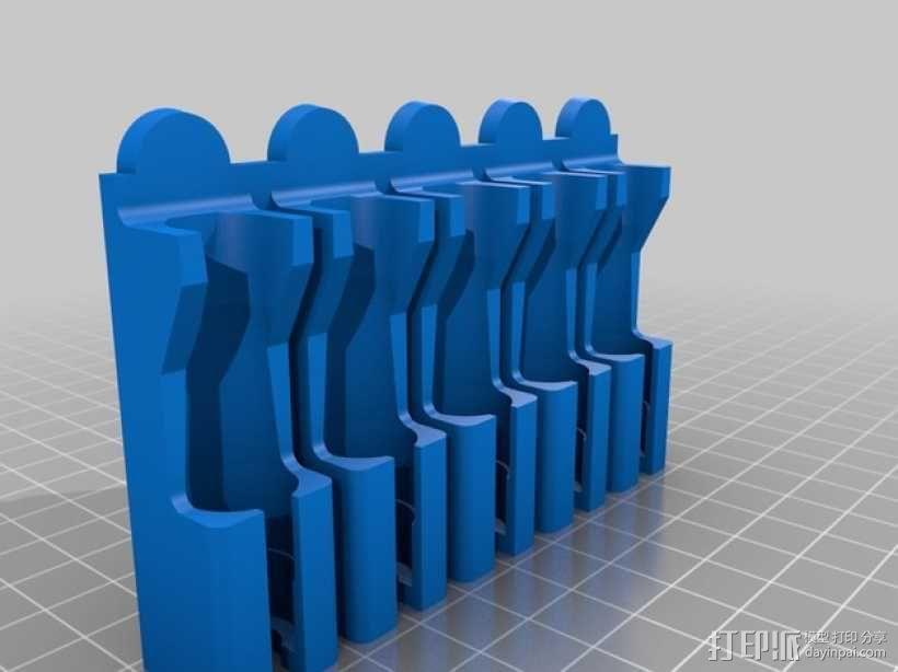 壁挂式牙刷固定架 3D模型  图5