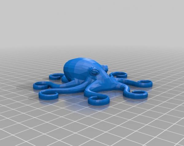 章鱼磁铁 3D模型  图2