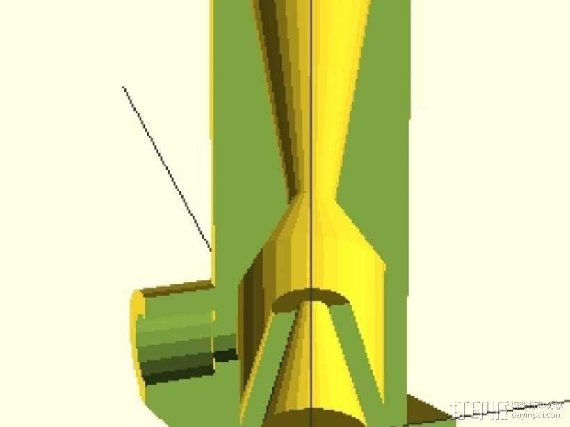 花园浇水用软管抽水泵 3D模型  图1