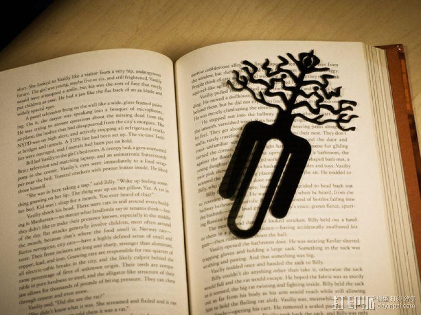 树的起源 -- 书签 3D模型  图1