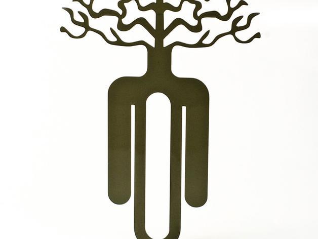 树的起源 -- 书签 3D模型  图4