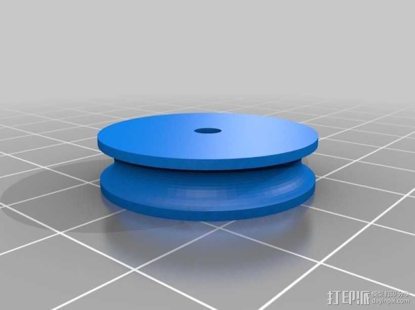 简易迷你滑轮 3D模型  图3