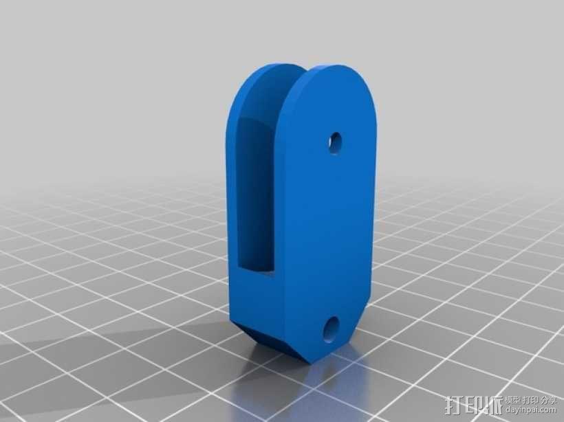 简易迷你滑轮 3D模型  图2