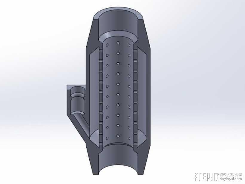 水族馆空气水泵零部件 3D模型  图2