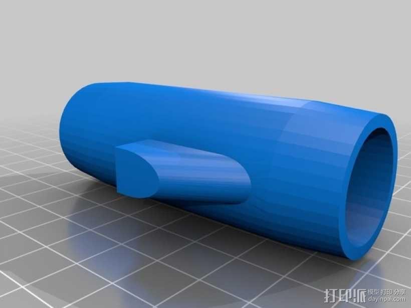 水族馆空气水泵零部件 3D模型  图4