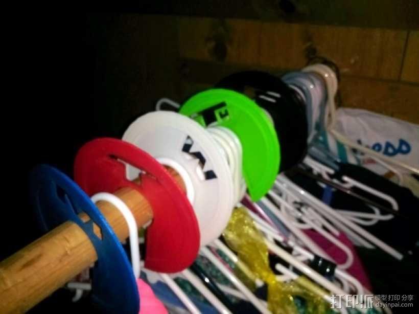 儿童衣柜服装分隔板 3D模型  图1