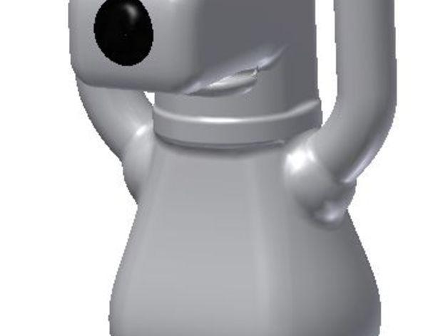 Brian笔筒 3D模型  图1