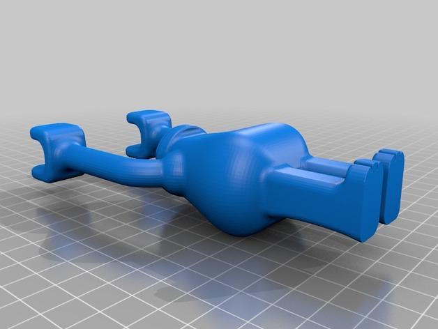 Brian笔筒 3D模型  图3
