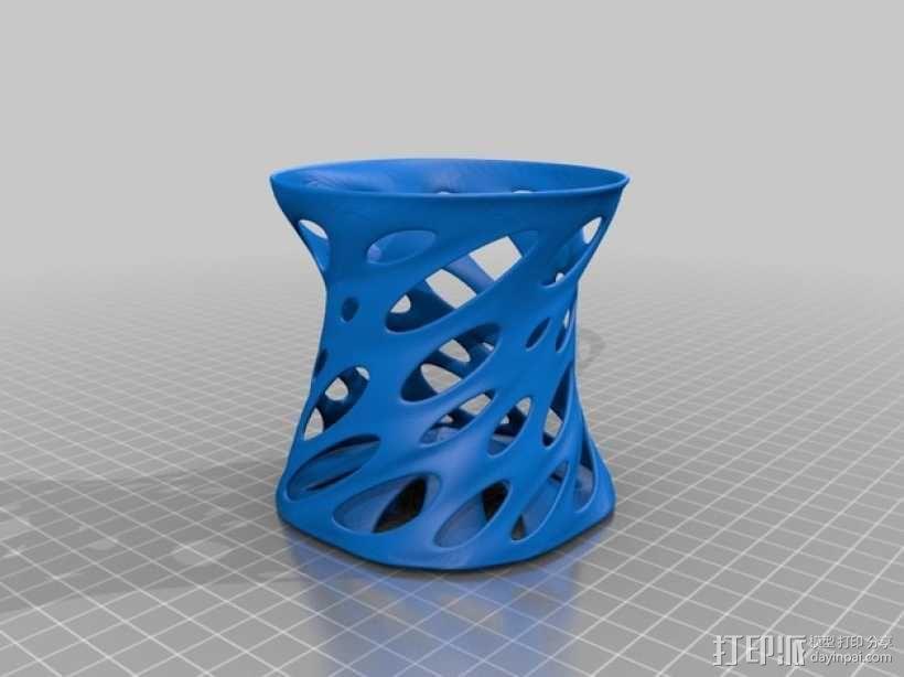 镂空兰花花瓶 3D模型  图2