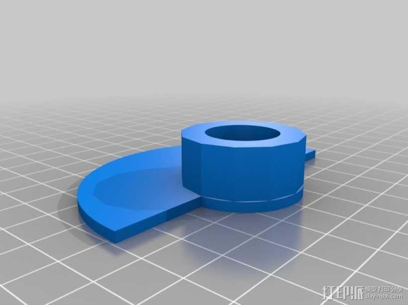 鼓风机伺服阻尼器 3D模型  图3