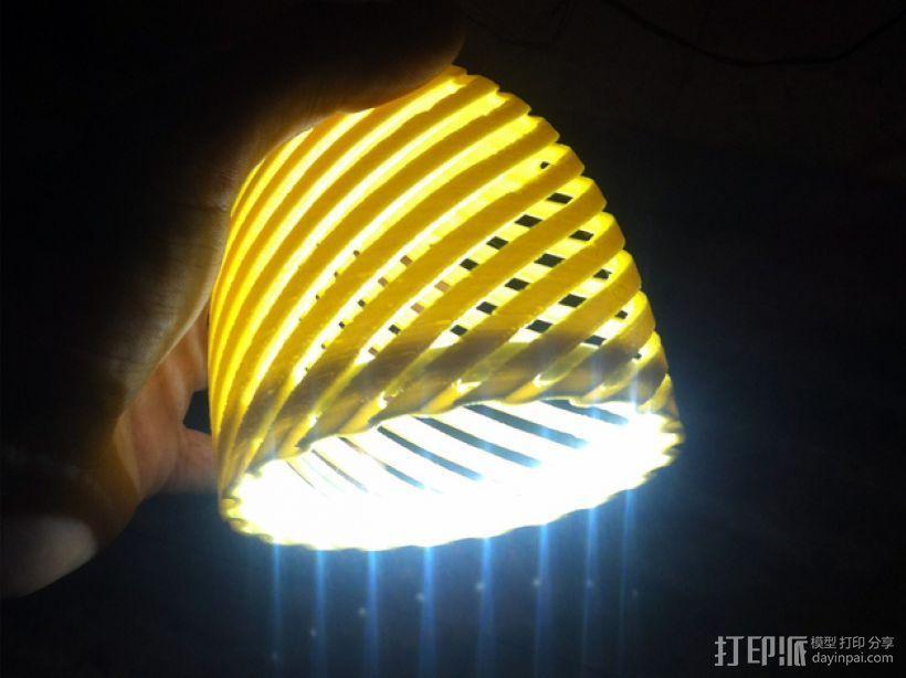 经典螺旋灯罩2 3D模型  图4