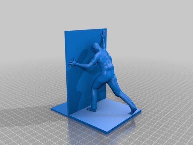 人形书立 3D模型  图2
